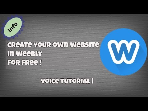 How To Create Your Own Website For Free Using Weebly