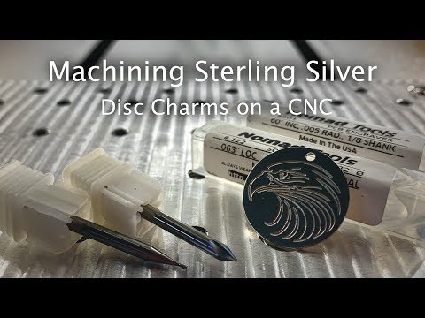 Making an Engraved Sterling Silver Disc Charm on the Nomad CNC - #MaterialMonday