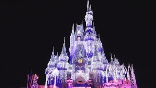 Cinderella CASTLE CHRISTMAS LIGHTING - Dream Lights HOLIDAY WISH Show! (Pandavision)