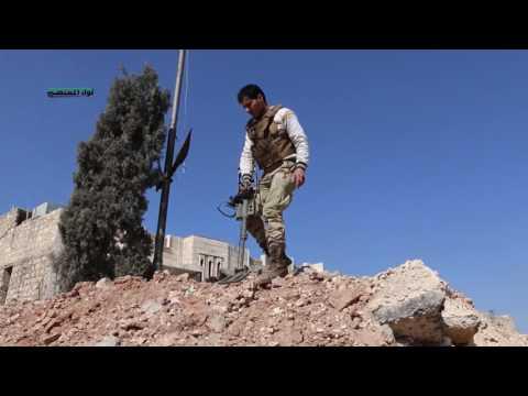 لواء المعتصم-جانب من الاشبتاكات ضد تنظيم داعش اثناء تحريرمباني واحياء داخل مدينة الباب