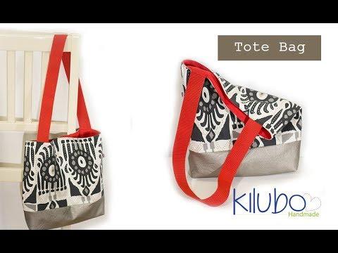 Cómo hacer un Tote Bag / Tote Bag con fondo y forro, muy fácil de hacer ♥