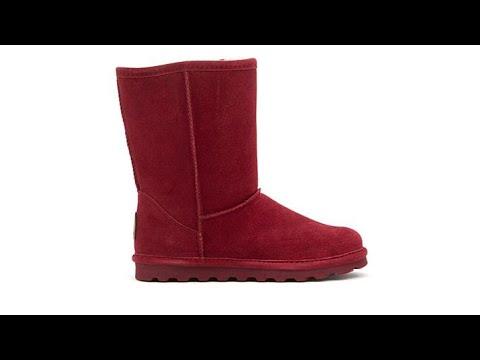 BEARPAW Elle Suede Sheepskin Boot With NeverWet