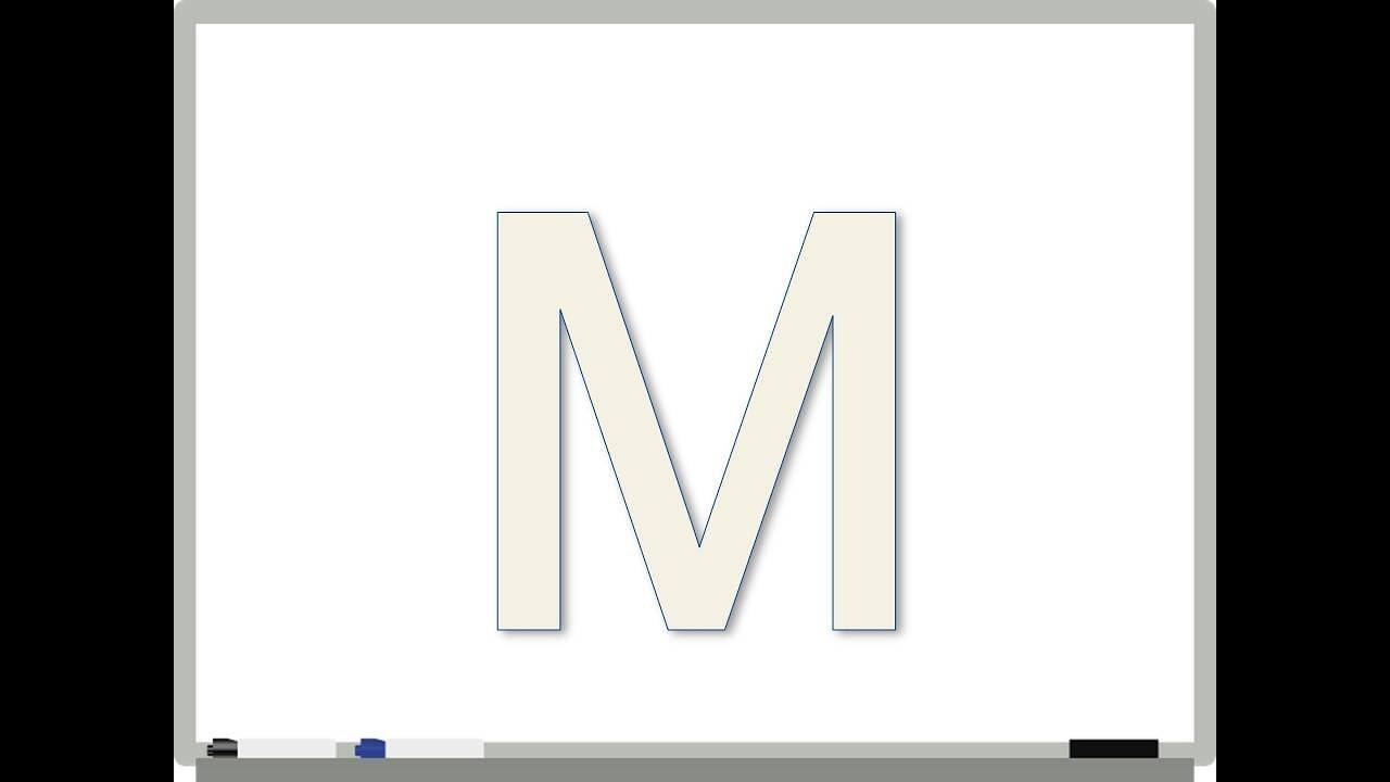 Μαθαίνω να γράφω - Μ - YouTube