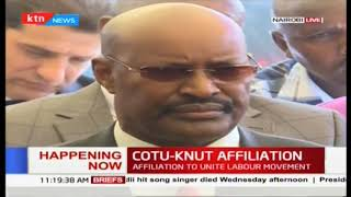 Francis Atwoli's speech during the merger between KNUT and COTU