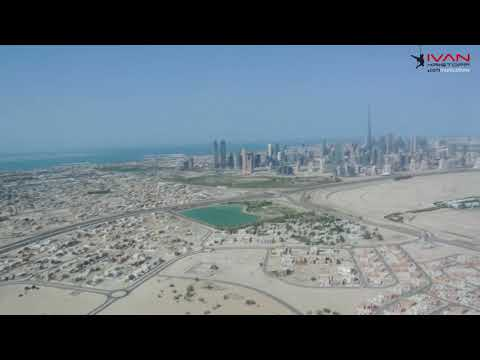 Flying around Dubai International Convention and Exhibition