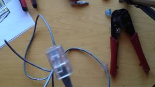 Как правильно обжать интернет кабель. Проблемы и решения. Обзор устройство обжима (клещи) и тестера.