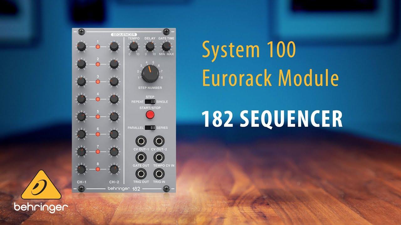 Behringer System 100 – 182 Sequencer Eurorack Module
