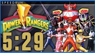 [NEW WORLD RECORD] Power Rangers (Sega Genesis) SPEEDRUN in 5:29