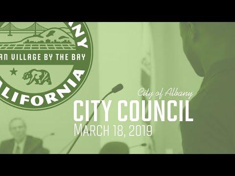 Albany City Council - Mar. 18, 2019