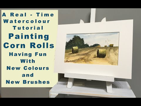 A Real - Time Watercolour Tutorial - Painting Corn Rolls - Using Layering Techniques - Having Fun thumbnail