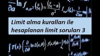 12) Limit alma kuralları ile hesaplanan limit soruları 3- Limit ve Süreklilik- Calculus 1