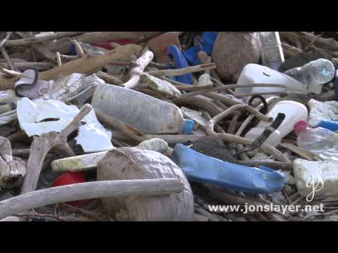 Diego Garcia beach plastic pollution high water line