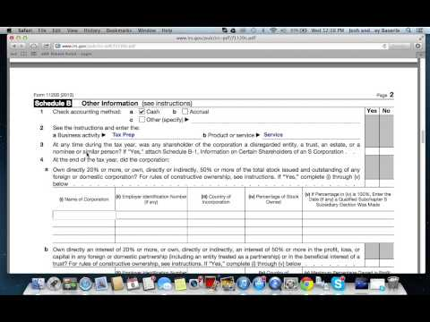 How to Fill out Form 1120S