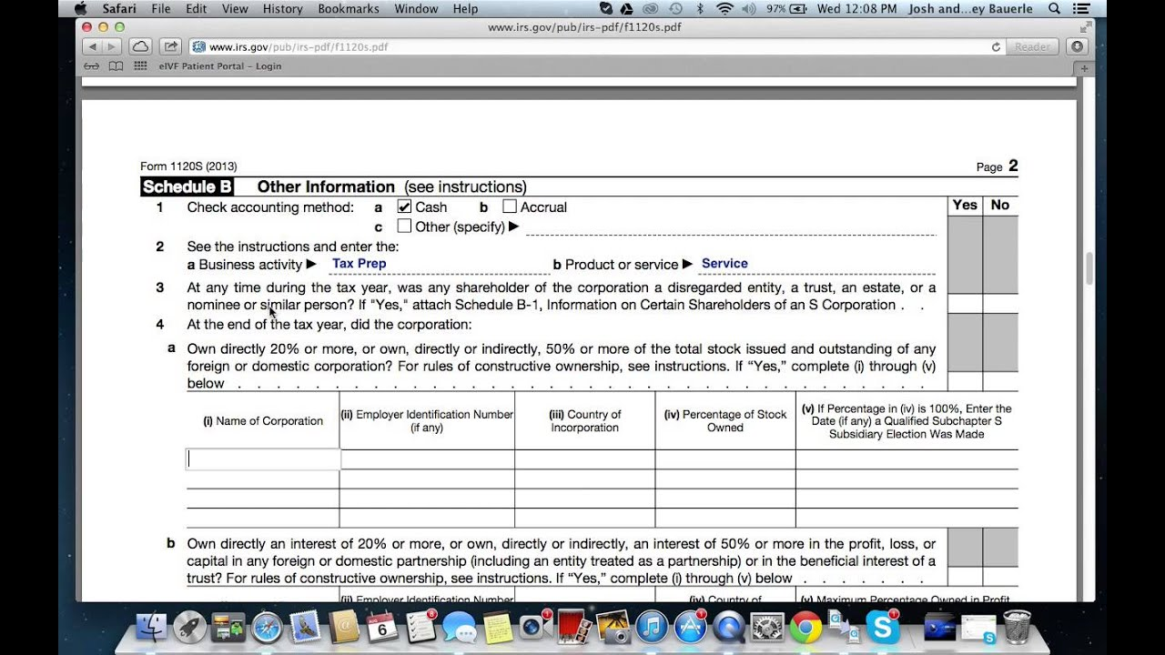 How to Fill out Form 1120S - YouTube
