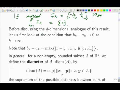 Lecture 10b: Math. Analysis - Subsequences and Sequential Compactness