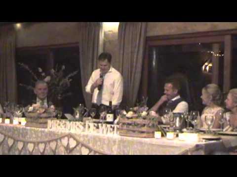 Mr and Mrs de Wet wedding