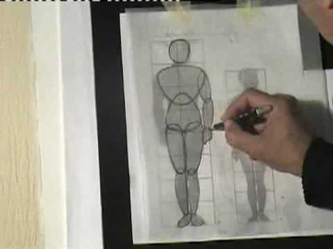رسم الجسم البشري الجزء1 Youtube