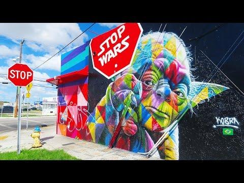 A Day At Wynwood Walls, Miami Art District