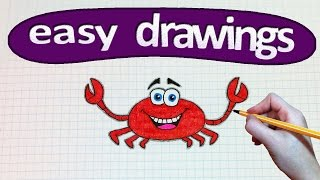 Easy drawings #228   How to draw a crab / drawings for beginners