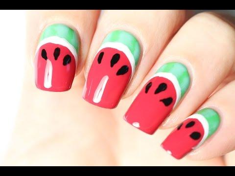 Les ongles fruitiers : un nail-art pastèque 🍉