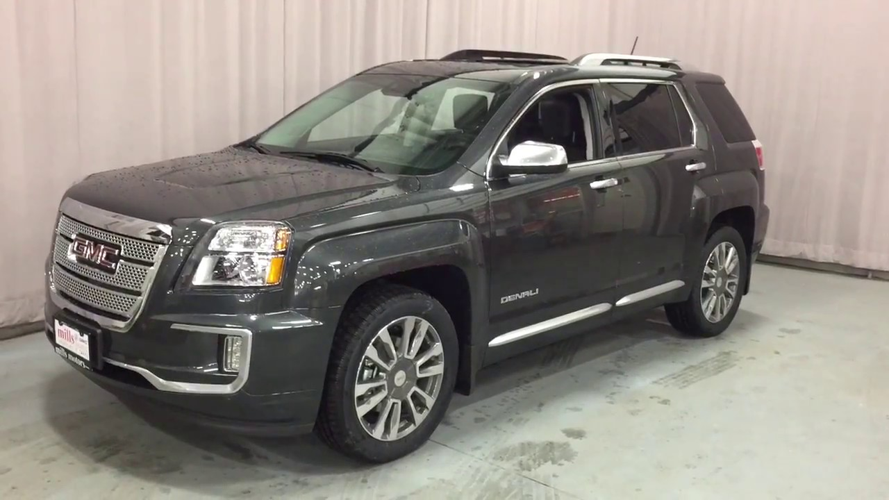 Gmc Terrain Denali >> 2017 GMC Terrain AWD Denali Leather Upholstery Power Liftgate Grey Oshawa ON Stock #170763 - YouTube