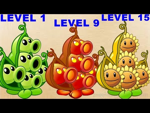 Pea Pod Pvz2 Level 1-9-15 Max Level In Plants Vs. Zombies 2: Gameplay 2017