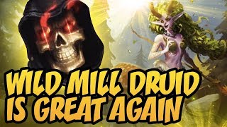 Wild Mill Druid Is Great Again | Rastakhan's Rumble | Hearthstone