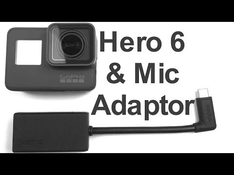 Unboxing Video And How To Connect An External GoPro Pro 3.5mm Mic Adapter To A GoPro Hero 6 Black 5