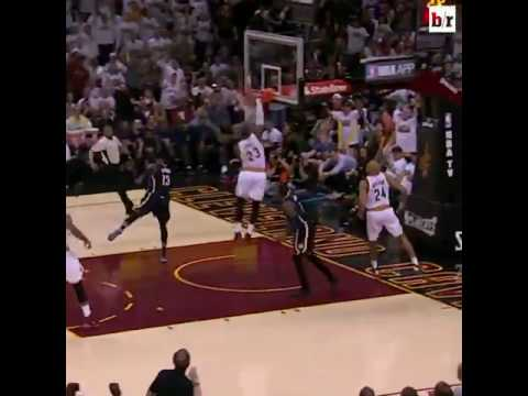 Bleacher Report Studio: LeBron James breaks the rim meme in Dunk