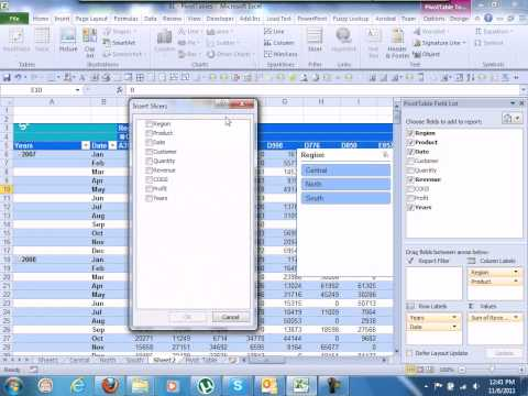 ADVANCED EXCEL 2010 PIVOT TABLE & SLICERS