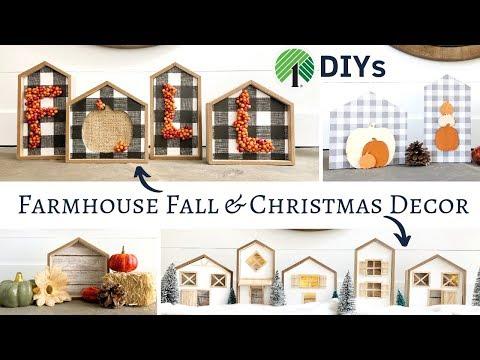 Dollar Tree Farmhouse Fall & Christmas DIYs 2019