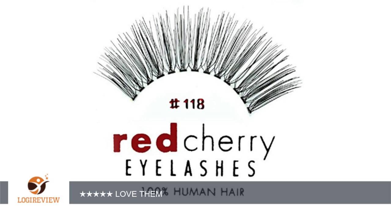 Red Cherry False Eyelashes 118 Pack Of 3 Reviewtest Youtube