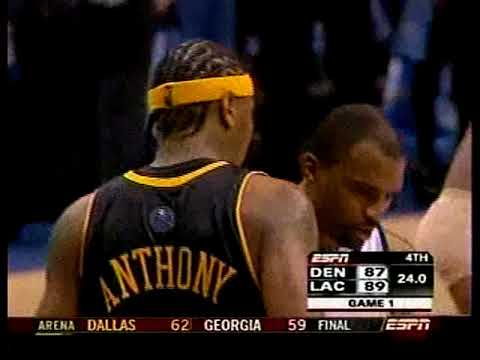 NBA 2006 Playoffs- Nuggets vs Clippers-  4th Quarter
