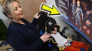 Mum Uses Her Credit Card To Buy *5 YEAR OLD KID* NEW Fortnite Packs including 600 FREE V-Bucks!