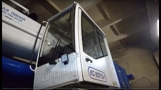 Автокран Галичанин КС-65713-1 50 тонн. Обзор белорусской кабины крановщика