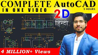 Gambar cover Complete AutoCAD in 2 Hours | AutoCAD in Hindi for Beginners | Mechanical, Civil, Arch