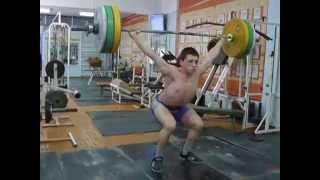 Тяжёлая атлетика Самылов Слава, 16 лет Рывок 87 кг вк 69 кг