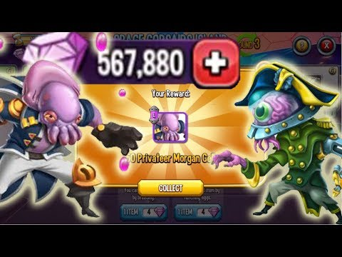 😍Monster Legends - Space Corsairs Island Get all Privateer Morgan Lord Mindson Himass Lumoona