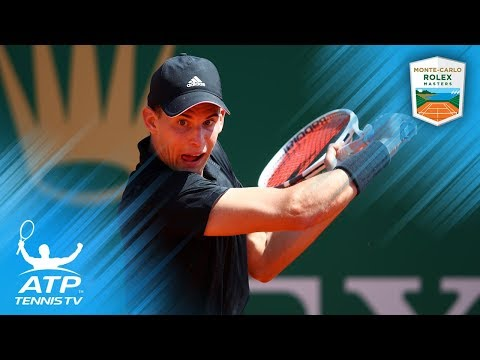 Dominic Thiem Brilliant Backhand Compilation vs Rublev | Monte-Carlo 2018 First Round