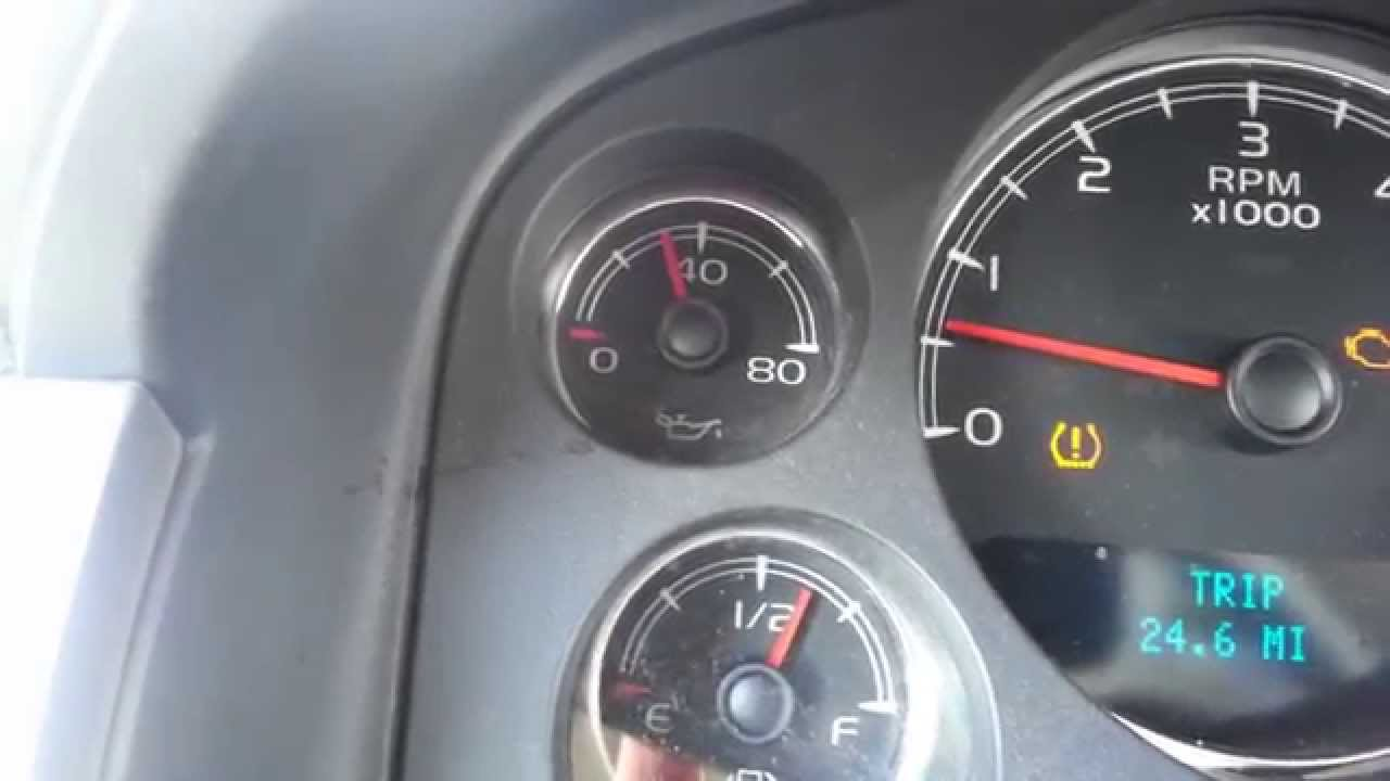 2007 Chevy Tahoe 5 3L low oil pressure but not really?