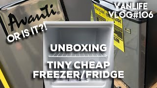 UNBOXING New TINY Vanlife Fridge/Freezer! Avanti 1.4 Cubic Feet, Or IS IT?! Vlog #106
