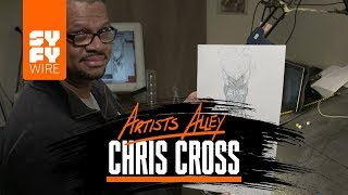 ChrisCross Sketches Firestorm | Artists Alley | SYFY WIRE