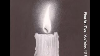 How to Draw a Candle With Pencil - How to Draw Fire - Draw Light - Flames