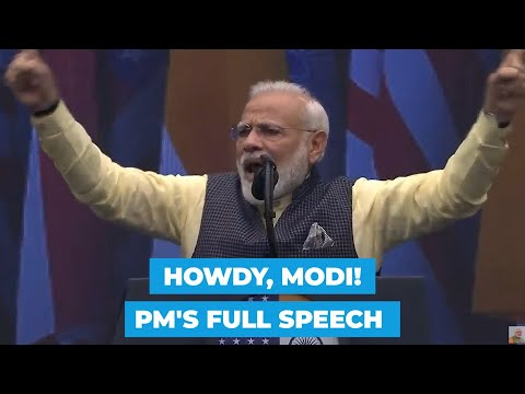 'Everything is fine in India': PM's response to 'Howdy, Modi!' | Full speech