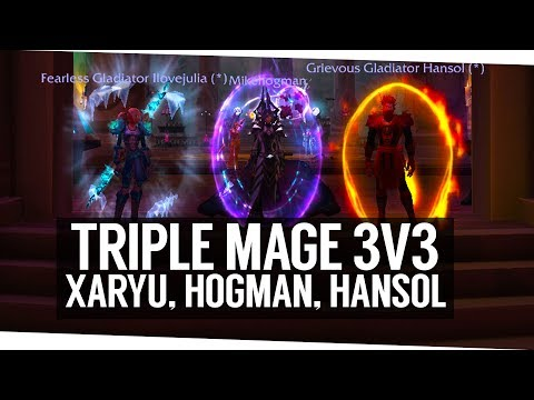 TRIPLE MAGE 3v3 ARENA - NEW BEST COMP? (Fun Arenas with Hansol and Xaryu)
