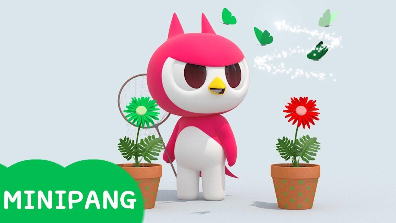 [미니팡 에스파냐] 미니특공대 | 컬러 나비 잡기 | 색깔놀이 | 에스파냐어 | 스페인어| Color play | Mini-Pang TV 3D Play
