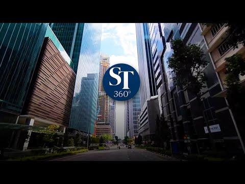 360-degree Look At The CBD As Singapore Enters 'circuit Breaker' Mode