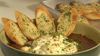 Baked Goat Cheese (with Garlic Toast)
