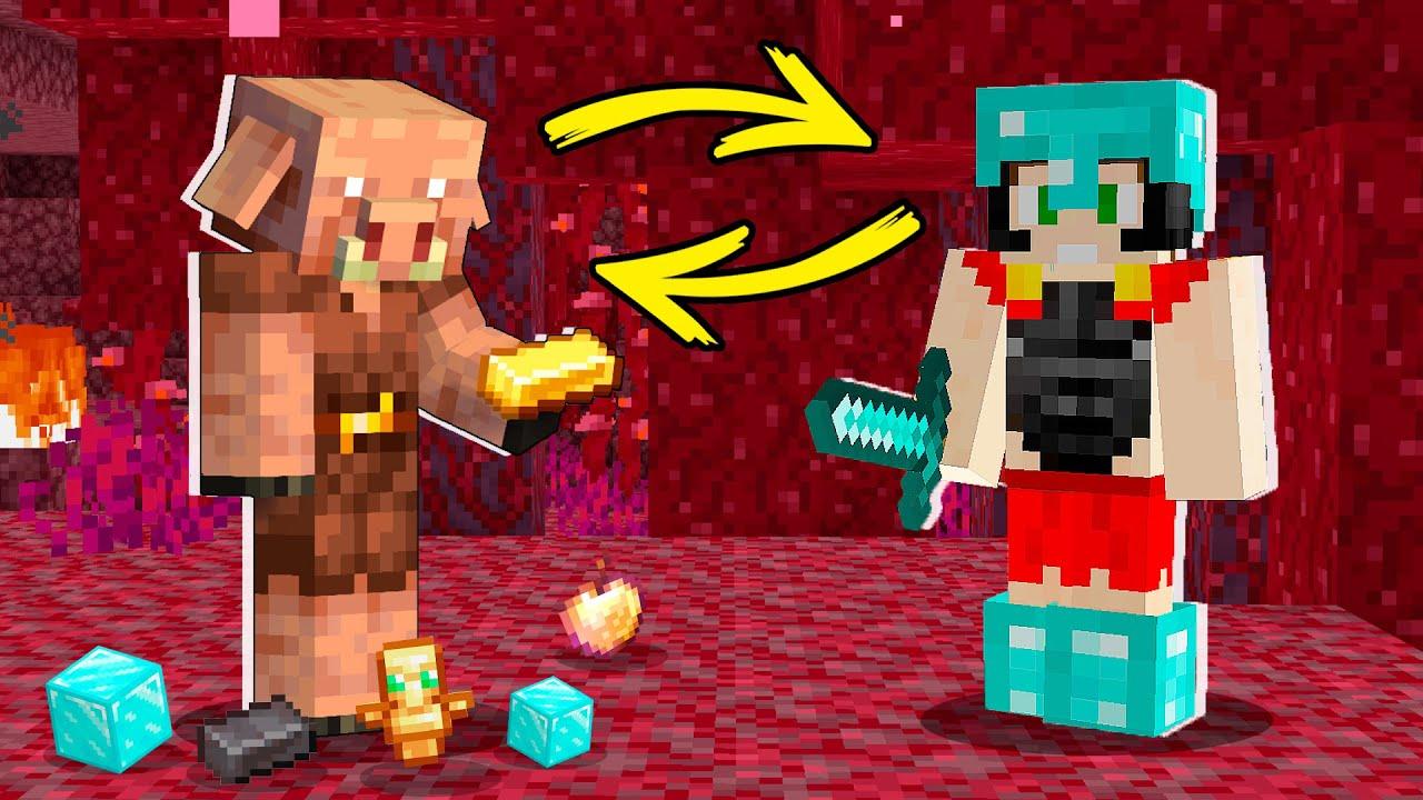 Paso MINECRAFT pero los PIGLIN dan COSAS OP 😱💎 Minecraft Invictor #5