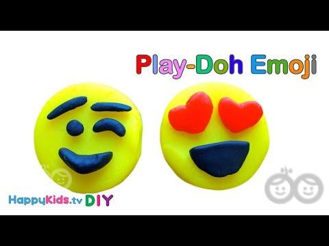 Emoji Play Doh | PlayDough Crafts | Kid's Crafts And Activities | Happykids DIY
